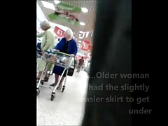 Unaware Granny Upskirted at..