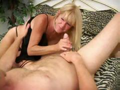 Adult Tanned Blonde In Act