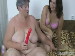 Ugly old whore gets horny