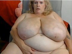 age-old bbw enormous tits