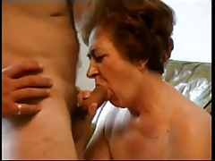 Granny Sucking Cock and..
