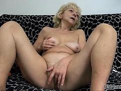 Dirty blonde floozy gets..