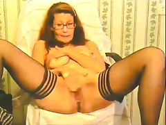 slutty granny plays and..