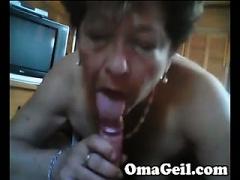 Old Lady woman sucks..