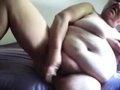 Big Granny Masturbating With..