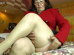 Horny amateur Latin mature..